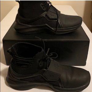 Black fenty puma black hightop sneakers